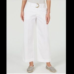 CHARTER CLUB WIDE LEG BELTED PANTS